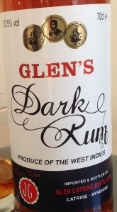 Glens Dark Rum Review